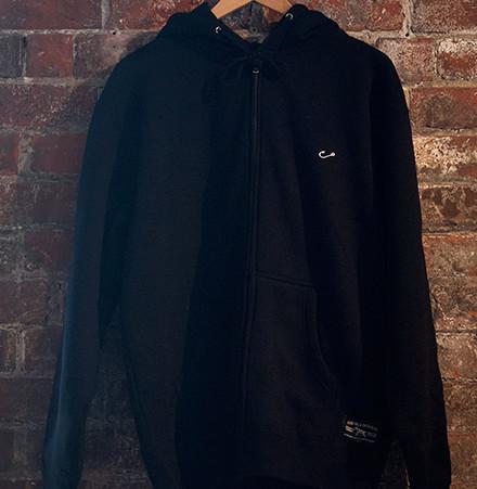 Hook Hoody Stitched Black