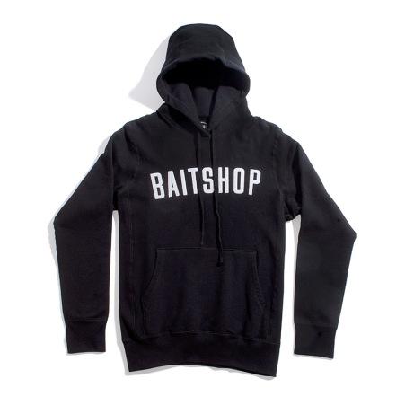 Black PremiuBaitshop Logo Hoody Front